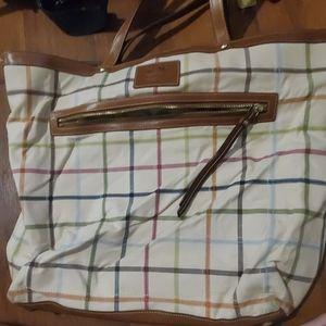 Coach plaid large purse
